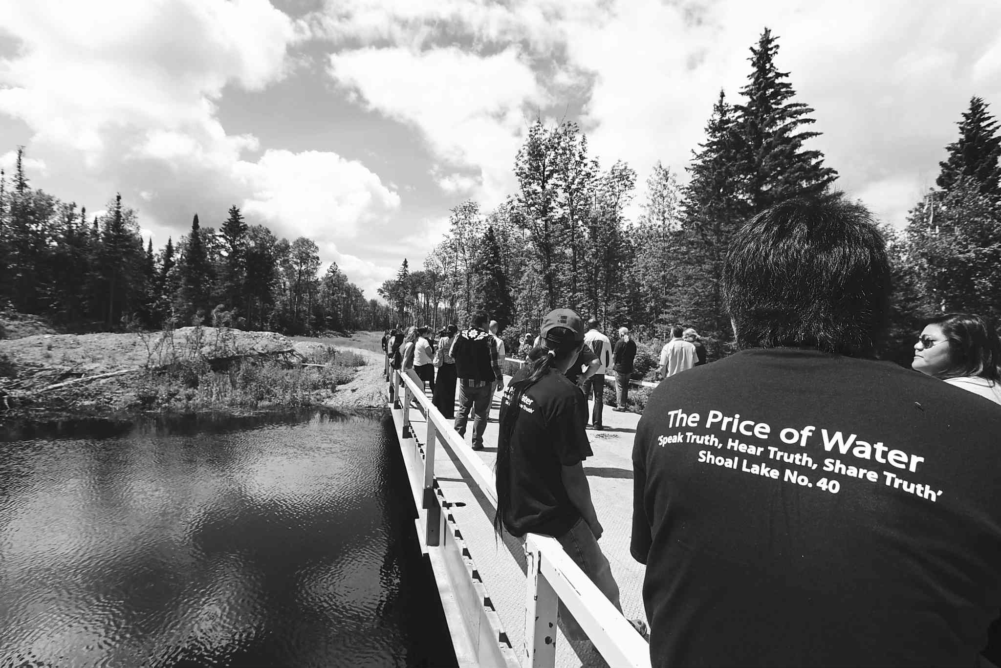 Shoal Lake 40 First Nation residents marked the 100th anniversary of the  flooding of their land, required for Winnipeg's water supply, in July of this year.