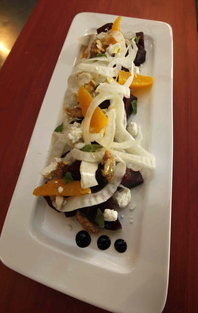 Agro-Dolce (beet salad) at Tre Visi (Wayne Glowacki / Winnipeg Free Press)