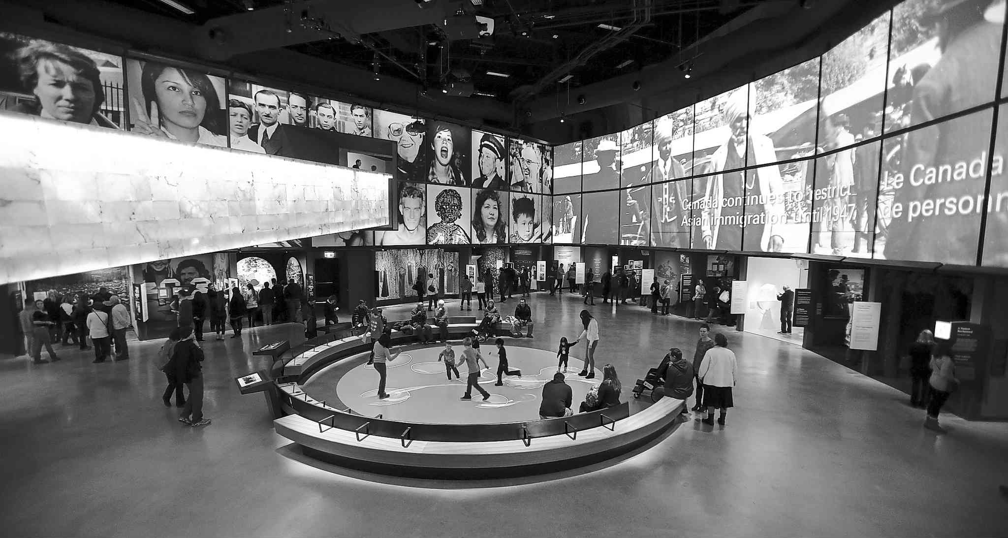 The remaining galleries at the Canadian Museum for Human Rights opened Tuesday, including the Canadian Journeys exhibit. Only four of the museum's 11 galleries were ready when it opened Sept. 27.