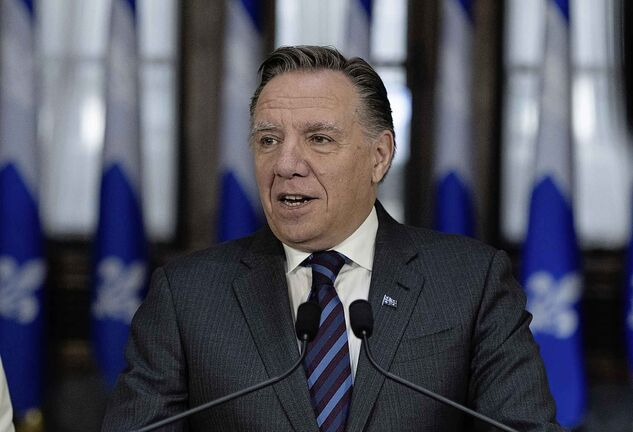 Quebec Premier François Legault said Brian Pallister should have put the money he spent on the ads into French services in Manitoba. (Jacques Boissinot / The Canadian Press)