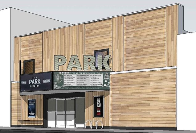 The Park Theatre is updating its exterior with wood panels, electronic signs and a new