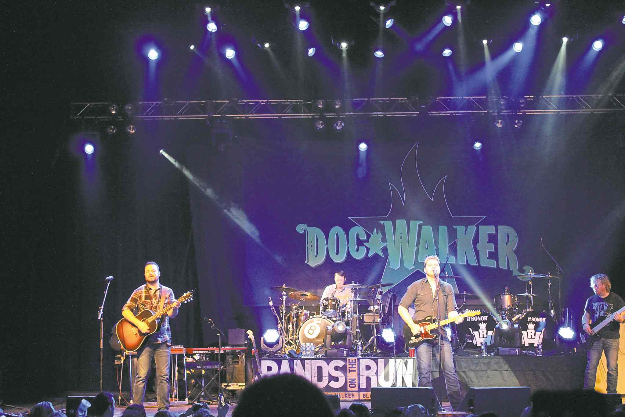 SUPPLIED PHOTOGo Mark Go! Chipman plays drums with Doc Walker on Thursday at Club Regent Event Centre.