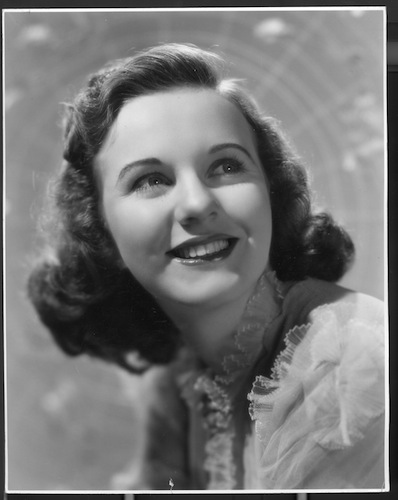 Winnipeg-born Hollywood actress Deanna Durbin.