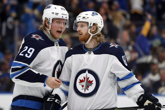 Patrik Laine and Kyle Connor missed this season's first training camp, but would be part of the next one. (Jeff Roberson / The Canadian Press files)