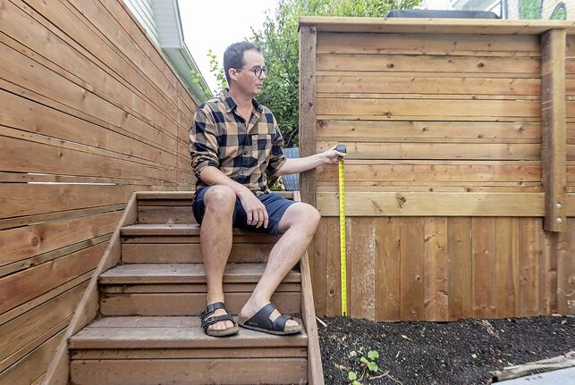 Matt Wiebe has been trapped in a battle with the city over the height of his deck.