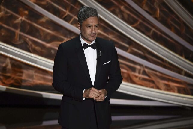 Chris Pizzello / The Associated Press files</p><p>Taika Waititi speaks at the Oscars in Los Angeles Sunday.</p>