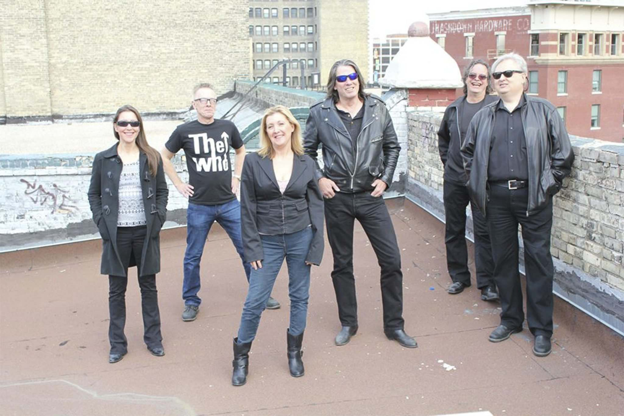 From left, keyboardist/vocalist Mary Anne Ocho, guitarist Ricky Carpick, singer Tasha Amabile, drummer Richard Trann, singer/guitarist Chris Brett and bassist John Neal.</p></p>