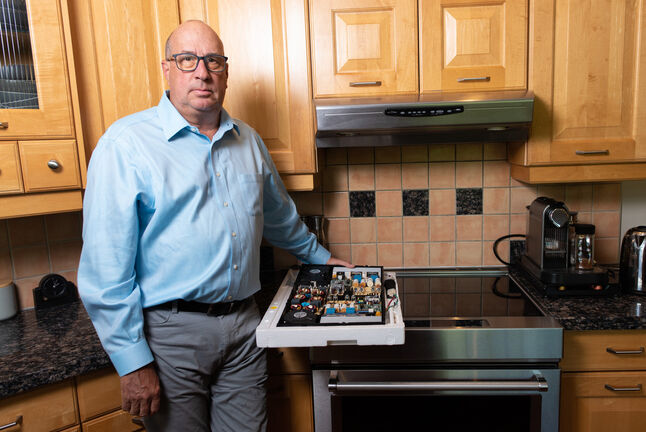 Brian Hayward spent $2,300 to have various appliances and other electrical devices fixed after a power surge in January 2019. (Jesse Boily / Winnipeg Free Press)