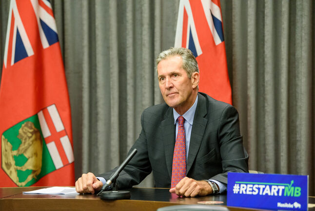 The provincial government led by Premier Brian Pallister balanced Manitoba's books in 2019-20 for the first time in 11 years. (Jesse Boily / Winnipeg Free Press files)