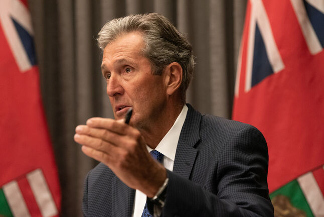 Premier Brian Pallister and his government will not prevent private businesses, public facilities or institutions such as school divisions from demanding proof of vaccination status or the donning of masks. (Alex Lupul / Winnipeg Free Press files)