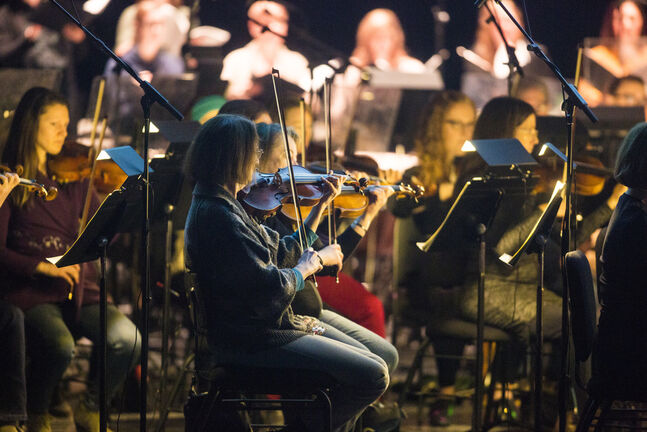 The Winnipeg Symphony Orchestra (Mikaela MacKenzie / Winnipeg Free Press files)   The Winnipeg Symphony Orchestra plays Harry Potter and the Prisoner of Azkaban as part of the Harry Potter Film Concert Series at the Centennial Concert Hall in Winnipeg on Friday, March 8, 2019.     Winnipeg Free Press 2019.