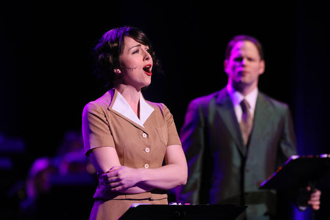Paula Potosky is a powerhouse while Timothy Gledhill is perfect as a cocky, swaggering gambler in Guys and Dolls. (Ruth Bonneville / Winnipeg Free Press)