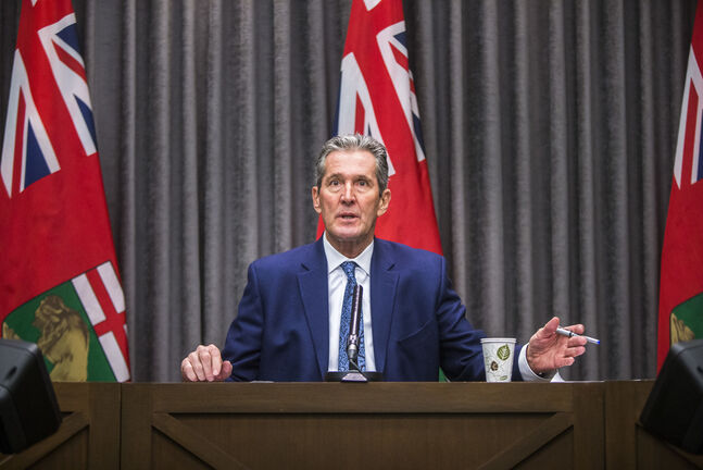 So far, Premier Brian Pallister has only announced Manitoba plans to set up an information network to help businesses access federal government dollars. (Mikaela MacKenzie / Winnipeg Free Press)