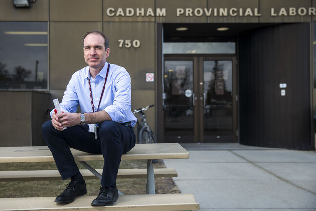 Dr. Paul Van Caeseele, director of Cadham Provincial Laboratory, says staff have been working around the clock, but morale remains up. (Mikaela MacKenzie / Winnipeg Free Press)