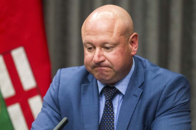 MIKAELA MACKENZIE / WINNIPEG FREE PRESS  Dr. Brent Roussin, chief provincial public health officer, speaks to the media during a COVID-19 update at the Manitoba Legislative Building in Winnipeg on Monday, Aug. 17, 2020. For Carol Sanders story. Winnipeg Free Press 2020.
