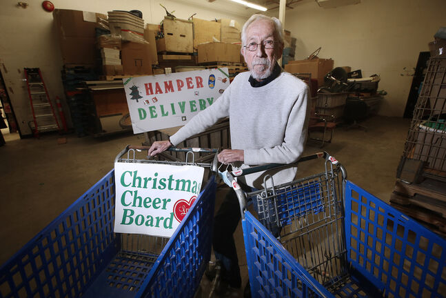 Kai Madsen, executive director of the Christmas Cheer Board, says the organization had to be realistic this year. (John Woods / Winnipeg Free Press)
