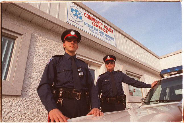 Andrew Mikolajewski when he was a constable, left, joined the Winnipeg Police Service in 1986 and retired as a detective sergeant in 2014.