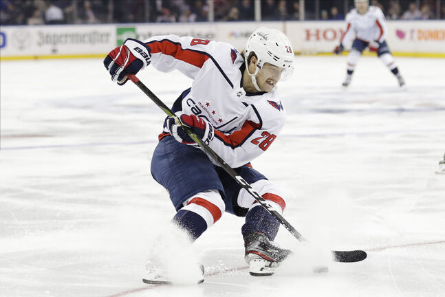Winnipegger Brendan Leipsic plays for the Washington Capitals. (AP Photo/Frank Franklin II)