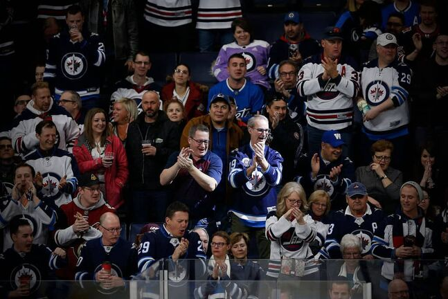Winnipeg Jets' fans at the last home game they attended on March 9, 2020.
