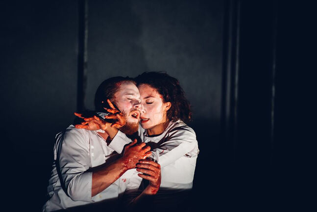 Chalifour and Clara Prevost Dubé in Macbeth Muet. (Supplied photo)