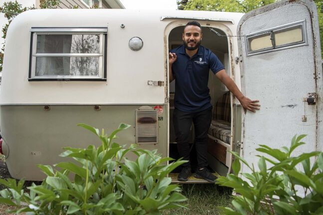 ALEX LUPUL / WINNIPEG FREE PRESS</p><p>Jorge Torres says the simplicity, and retro look, of the Boler — of which only about 10,000 were made — has contributed to their popularity, particularly during the pandemic.</p>