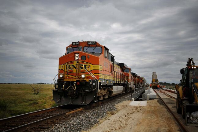 BNSF operates more than 300 kilometres of track in Manitoba and British Columbia, including a line that runs through River Heights. (Luke Sharrett / Bloomberg)