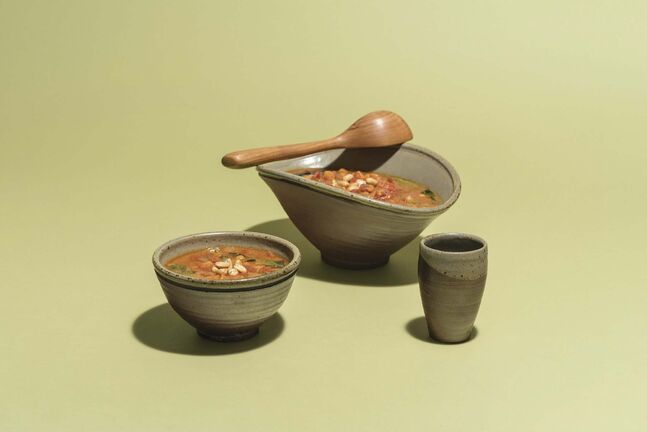 Lianed Marcoleta</p><p>African Peanut Soup, with ceramics by David McMillan. The soup is part of Verde Juice Bar's regular menu rotation and has become a customer favourite.</p>