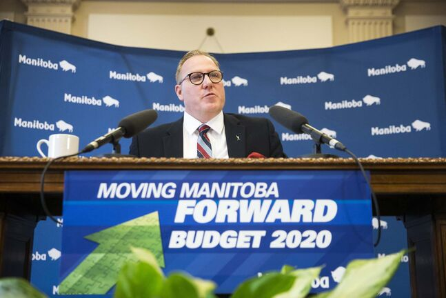 In the wake of the COVID-19 crisis, Finance Minister Scott Fielding will have to take another look at the numbers he presented last week. (Mikaela MacKenzie / Winnipeg Free Press files)</p>