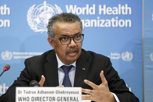 WHO Director General Tedros Adhanom Ghebreyesus says we need to attack the virus with aggressive and targeted tactics. (Salvatore Di Nolfi / Keystone flies)