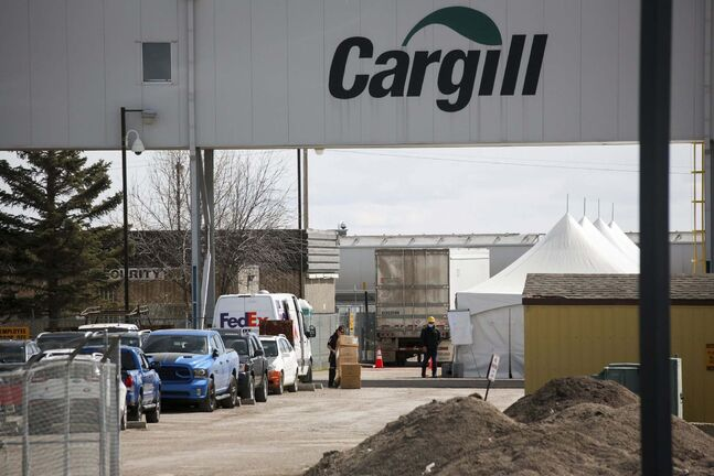 Jeff McIntosh / The Canadian Press Files</p><p>Cargill temporarily shut down its beef plant near High River, Alta. </p>