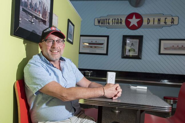 JESSE BOILY / WINNIPEG FREE PRESS</p><p>Bruce Smedts, owner of White Star Diner at his downtown business on Thursday. Smedts said that with many people working from home his eatery has seen a decrease in customers so he has applied for the micro grant for downtown businesses.</p>