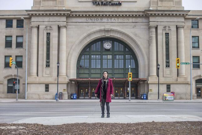 Orit Shimoni has passed through the doors of Union Station many times in her 11-year career as a travelling musician, but it was only the pandemic that made her last time a one-way trip. (Mikaela MacKenzie / Winnipeg Free Press)