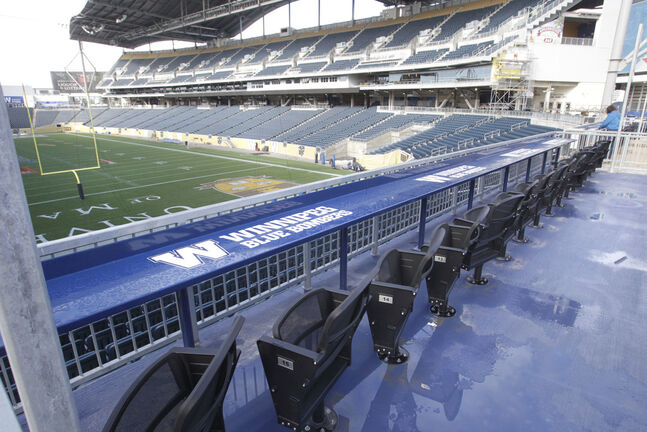 IG Field, home of the Winnipeg Blue Bombers and Valour FC, will sit fan-less for the foreseeable future.