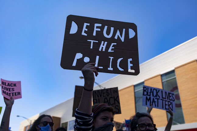 Calls to defund local police forces have been taken up by an increasing chorus of voices as sustained protests sweep across Canada and the United States. (Brian Cassella / Chicago Tribune files)