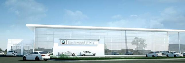 An artist's rendering, above, depicts the $4 million expansion of Birchwood's BMW dealership, The project is scheduled for completion in early 2014.