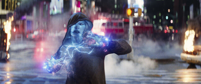 Good thing he decided on hardwood instead of carpet at home; the static electricity would kill him: Foxx as Electro in The Amazing Spider-Man 2.