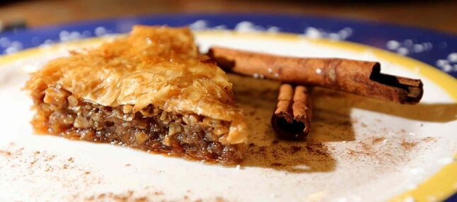 Delectable baklava at Pembina Village