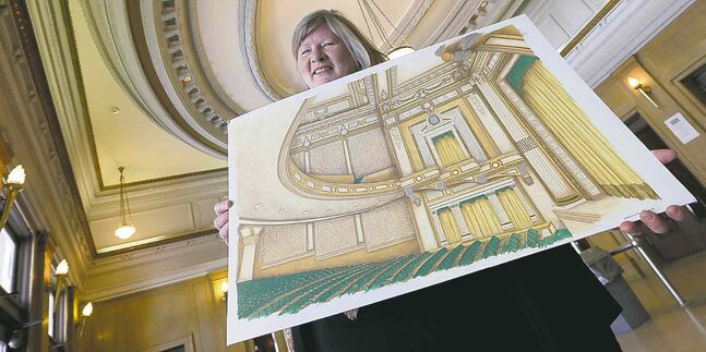 Trudy Schroeder hopes plans for refurbishing the 100-year-old theatre will be put into action soon.