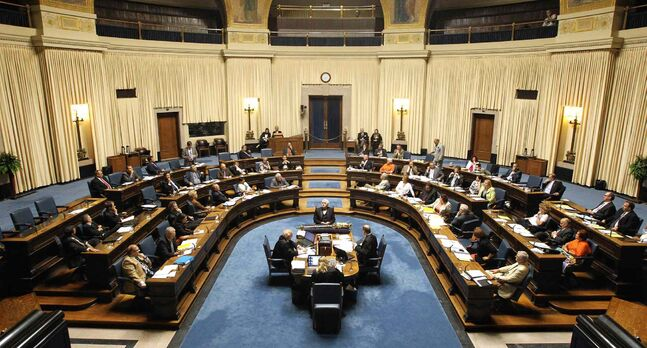 Question period at the Manitoba Legislature assembly. The Tories have hammered at the NDP over the PST increase.