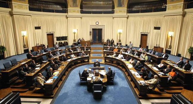 Question period at the Manitoba Legislature assembly Legislative Chamber Thursday afternoon.