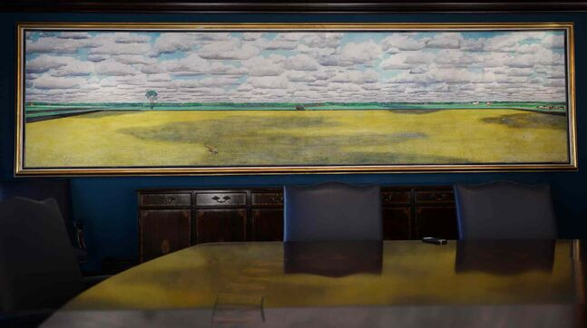 A William Kurelek painting that is 5.5 metres in length.
