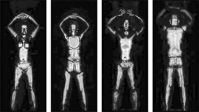 Image from an airport security full body scanner.