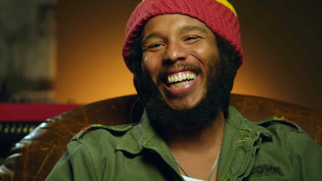 Ziggy Marley from a scene in the movie Marley.
