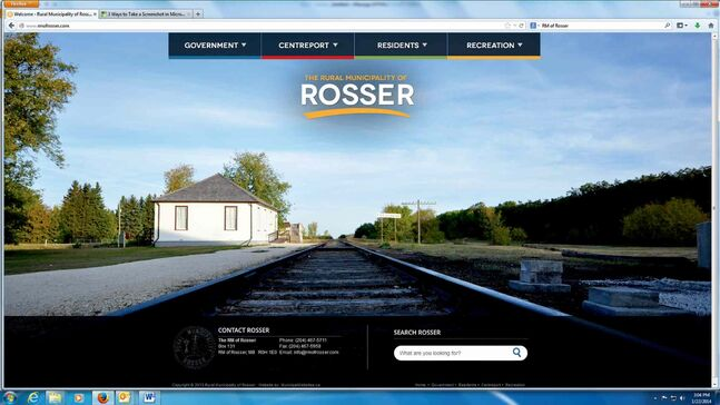 The new RM of Rosser site offers users clear choices for information.