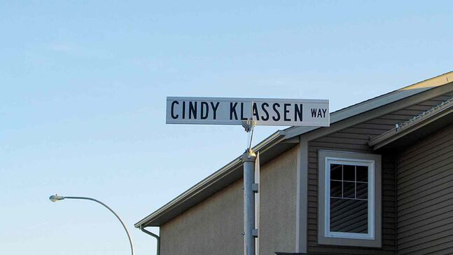 Cindy Klassen Way in North Kildonan is named for Winnipeg's 2006 Olympic hero.