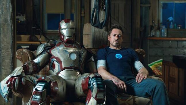 Robert Downey Jr. shows Iron Man's sensitive side in the third instalment of the comic-book movie franchise.