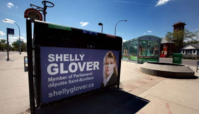 Elections Canada considers St. Boniface Conservative MP Shelly Glover's promotional signs such as this a campaign expense.