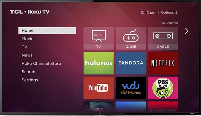 This image provided by Roku Inc., shows a screen frame grab of Roku's service. Internet streaming platform company Roku Inc. is launching a line of TVs that plays back video from services like Netflix without requiring an extra set-top box. While similar to smart TVs on the market already, Roku's platform with some 1,200 apps is far more comprehensive for those seeking out niche content. Roku plans to showcase them on the sidelines of the annual gadget show in Las Vegas, International CES, starting Monday, Jan. 6, 2014. (AP Photo/Roku Inc.)
