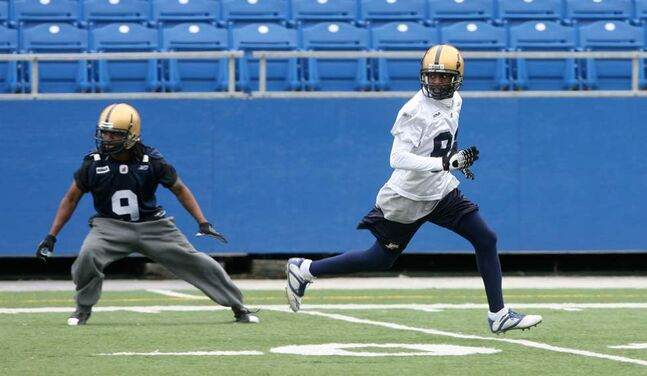 Terrence Edwards #82 during Winnipeg Blue Bomber training camp on Wednesday June 06, 2007. (MIKE DEAL / WINNIPEG FREE PRESS)