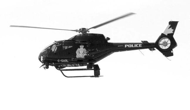 The Winnipeg police helicopter Air1 as captured in a 2011 file photo.